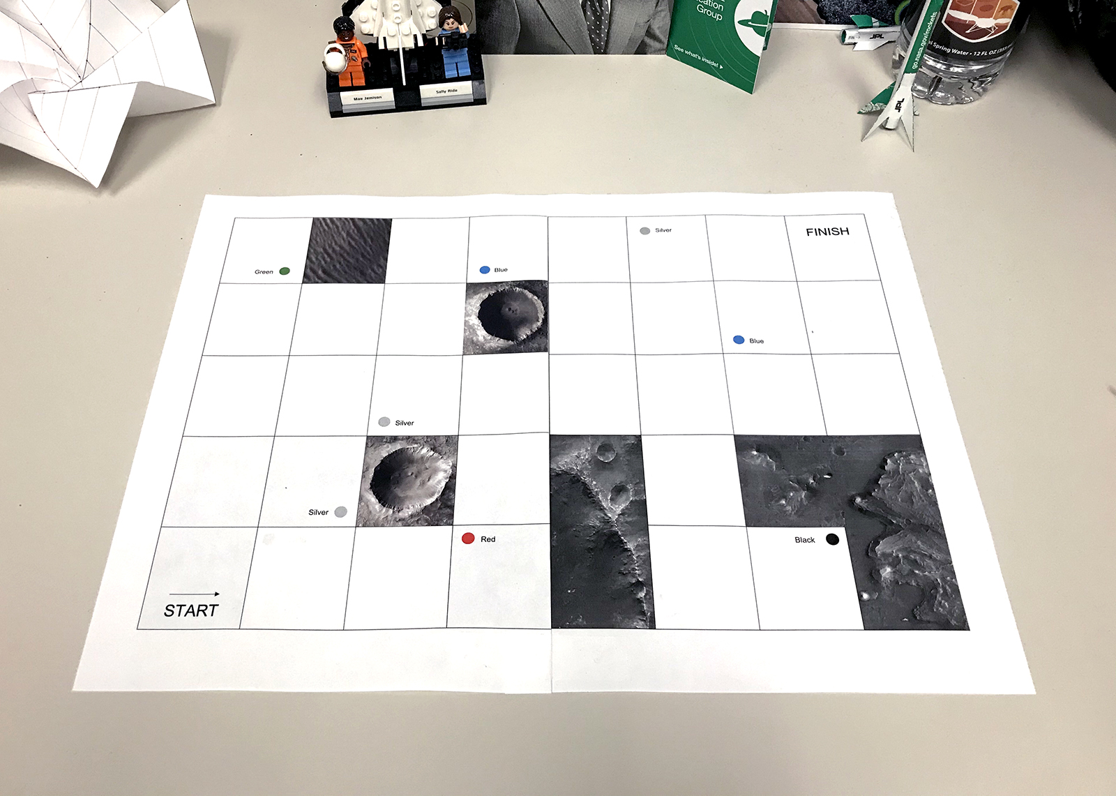 Mars Rover Driver Board Game Activity