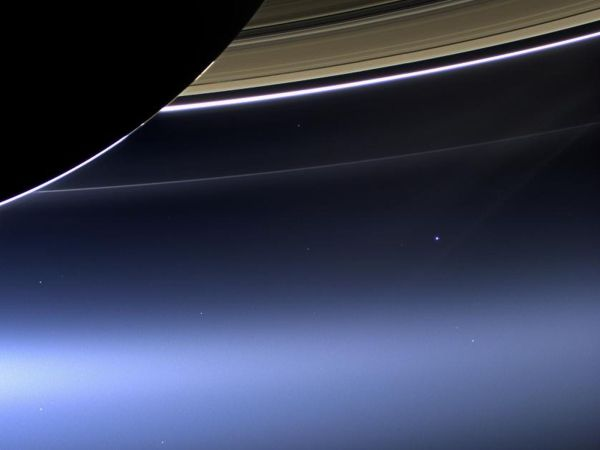 High Resolution Earth From Saturn Cassini