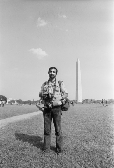 Washington, DC. May 9th 1970. More than 100,000 students stand in and around the Reflecting Pool near the Washington Monument, demonstrating against the recent violence used to breakup a Vietnam War protest at Kent State University. Four Kent State students were killed, and many others injured, when members of the National Guard fired tear gas and rifles into crowds of student demonstrators who were protesting the Nixon administration's expansion of the Vietnam War into Cambodia.