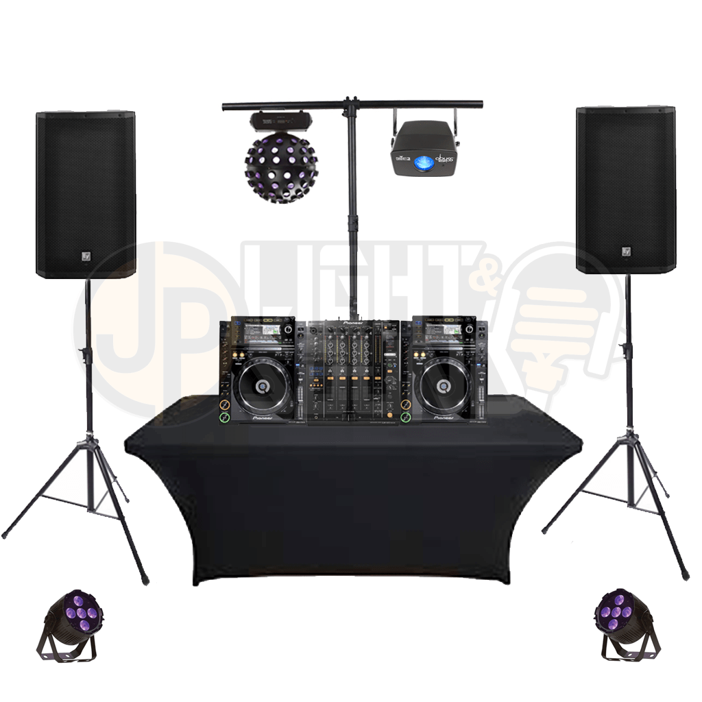 lighting sound dj party packages jp light sound. Black Bedroom Furniture Sets. Home Design Ideas