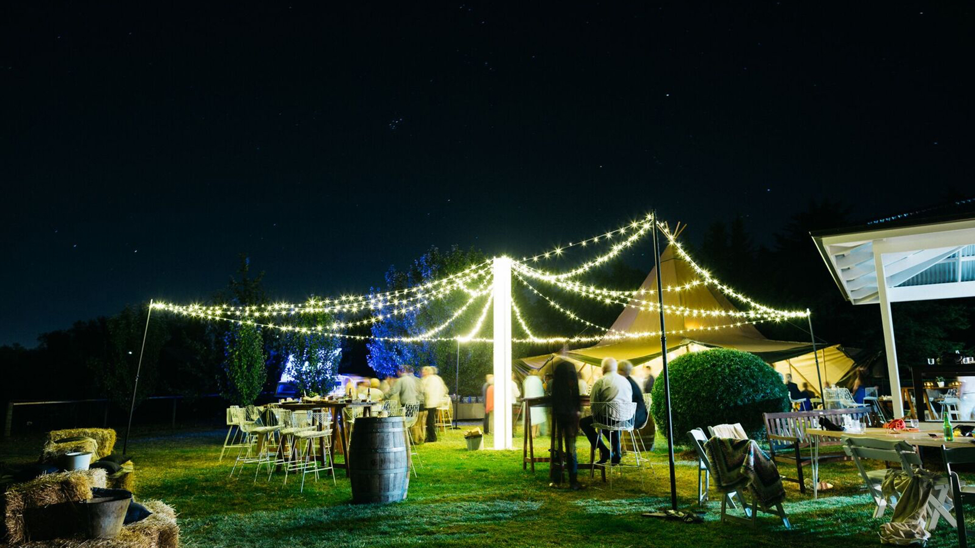 Fairy Light Canopy - JP Light & Sound - Wedding Hire Adelaide