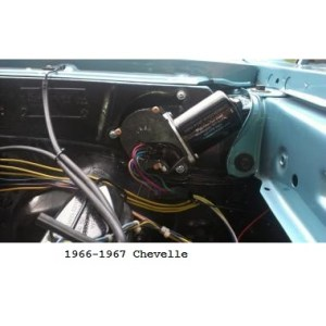 New Port Engineering 12 Volt Windshield Wiper Motor for Chevy Chevelles
