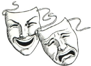 comedy & tragedy masks