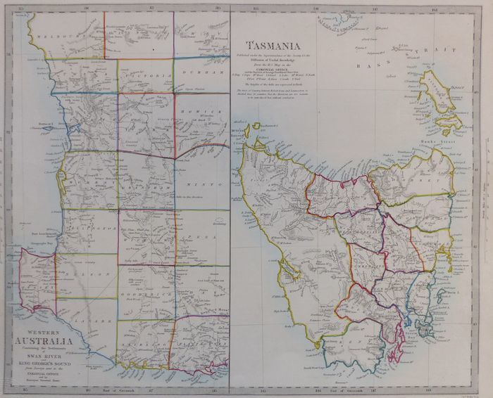Jonathan Potter: Map : Western Australia / Tasmania