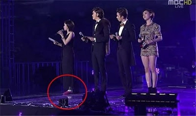 Eunjung Injured Her Ankle During MBC Gayo Daejaejun 2011