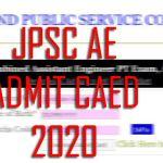 JPSC JE ADMIT CARD 2020