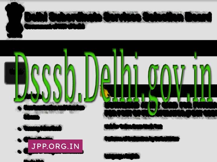 Dsssb.delhi.gov.in