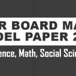 BSEB 10th Model Paper 2020