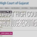 Gujarat High Court Recruitment 2020 District Judge