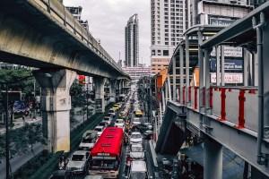 A traffic jam.