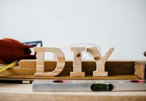 Wooden DIY letters.