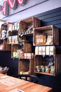 eco-friendly storage - wooden shelves