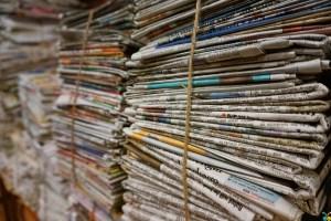 bundle of newspaper