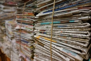 bundle of newspaper