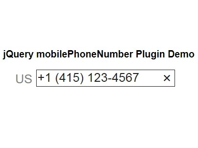 International Phone Number Input Plugin with jQuery