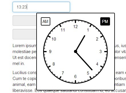 jQuery Plugin To Select The Time Form A Clock-Style Interface