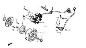 Stator et alternateur pour DAELIM VT 125 www.jrc-motos.com
