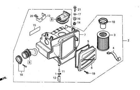 Filtr à air et pièces pour DAELIM VT 125 www.jrc-motos.com