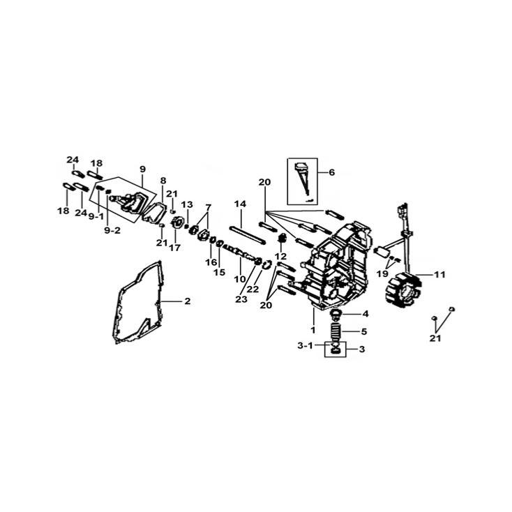 Stator et allumage pour scooter tgb x-motion www.jrc-motos.com