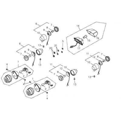 Clignotants Av et AR quad Adly 300 Interceptor