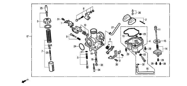 Carburateur et pièces pour moto DAELIM ROADWIN www.jrc
