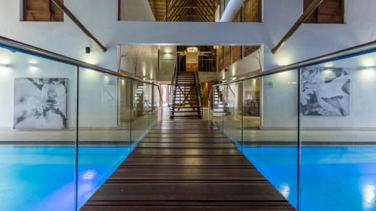 Seasons sport and spa spa swimming area bridge