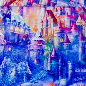 Personalized Watercolor Castle Weighted Blanket
