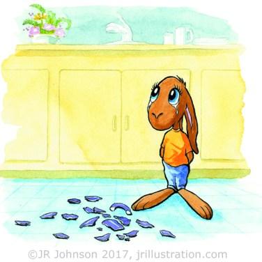 """Fault Bunny plate 2, """"the tears"""""""