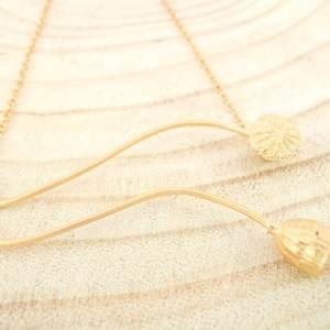 collier Poppies avec pendentif en argent 925 plaqué or