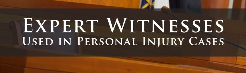 Types Of Expert Witnesses Used In Personal Injury Cases