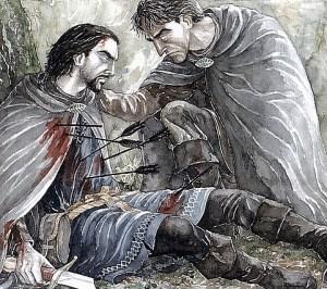 "Disegno ""Aragorn e Boromir"" di Anke Eissmann - http://anke.edoras-art.de/"