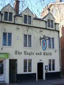 "Oxford: pub ""The Eagle and the Child"""