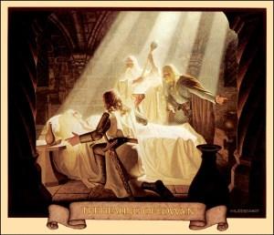 "Greg e Tim Hildebrandt: ""Healing of Eowyn"" (calendario 1977)"