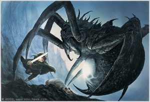 Sam and Shelob - John Howe
