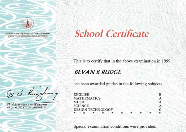 Curriculum Vitae  Bevan Rudge