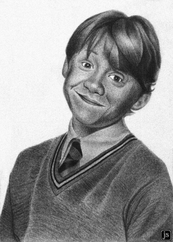 Pencil Drawings of Ron Weasley