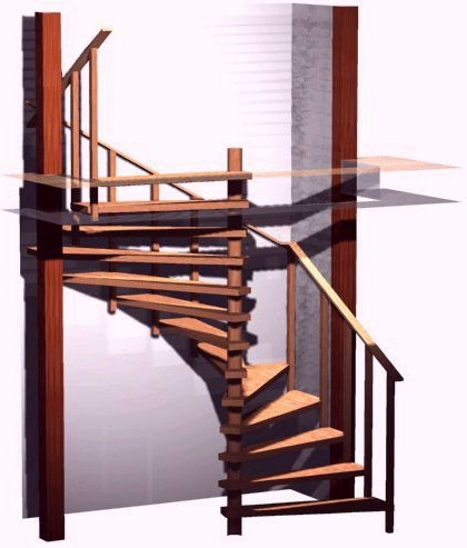 Spiral Stair Plans Spiral Stairs Crafted In Wood   12 Ft Spiral Staircase   Stair Treads   Steel   Mylen Stairs   Staircase Kit   Stair Kit
