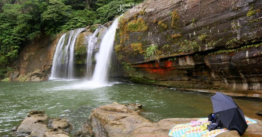 平溪山裡來的涼夏秘境「嶺腳瀑布」