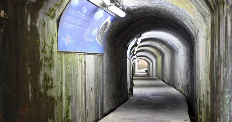 三坑車站旁,穿越基隆「百年防空洞」歷史廊道