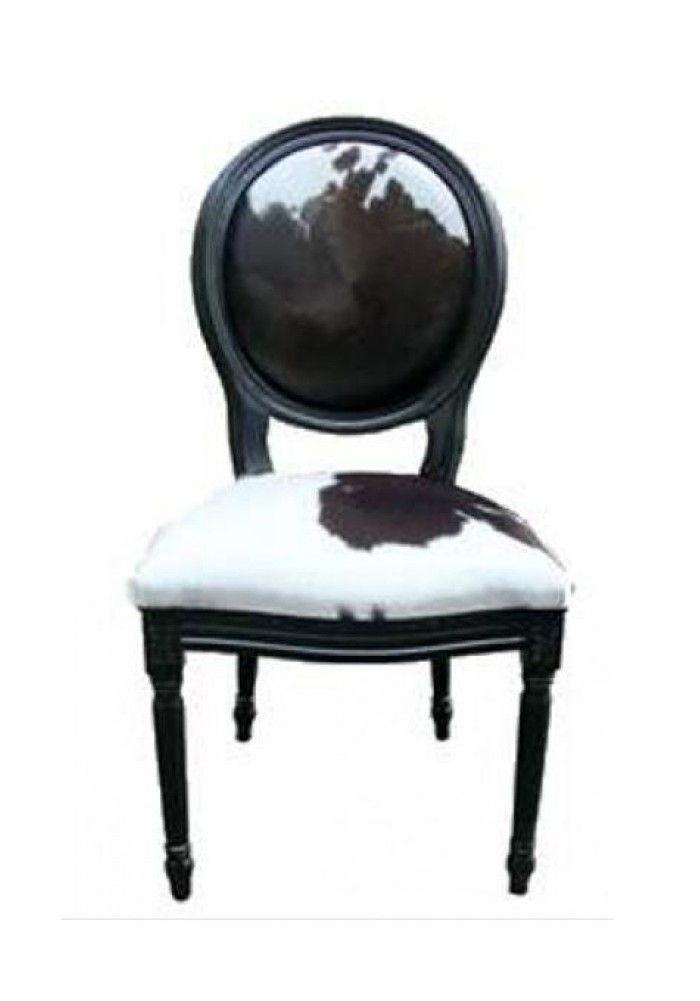 cowhide chairs nz steel chair three seater louise in skin painted black frame