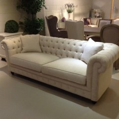 Chesterfield Sofa Material White Slipcovers Cheap 3 Seater Fabric