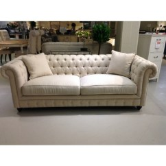 Chesterfield Sofa Material Round Couch Chair 3 Seater Fabric