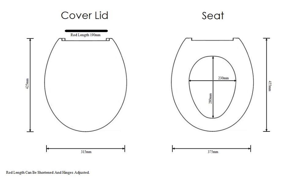Colour Toilet Seats UK MADE Almond Primrose. Turquoise