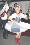 Picture of Hungarian dancer doing the czardas