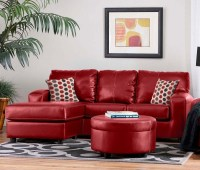 10 Best Collection of Red Leather Couches For Living Room