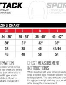 Icon sizing chart mens jacket attack fit also charts rh jspowersports