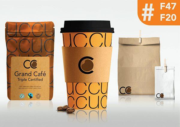 Coffee Company Cup Orange