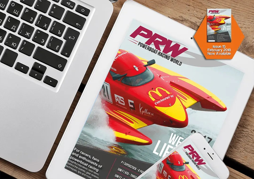 Poweboat racing world magazine and graphics design project