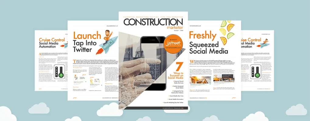 Construction marketer featured header image for website post