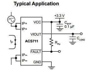 ACS770 Hall Effect Current Sensor (ACS770LCB-050U-PFF-T